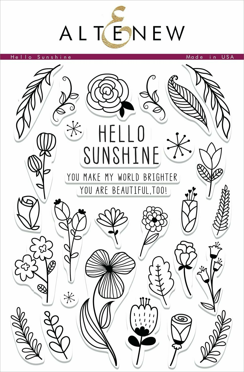 Altenew HELLO SUNSHINE Clear Stamp Set