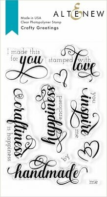 Altenew CRAFTY GREETINGS Clear Stamp Set