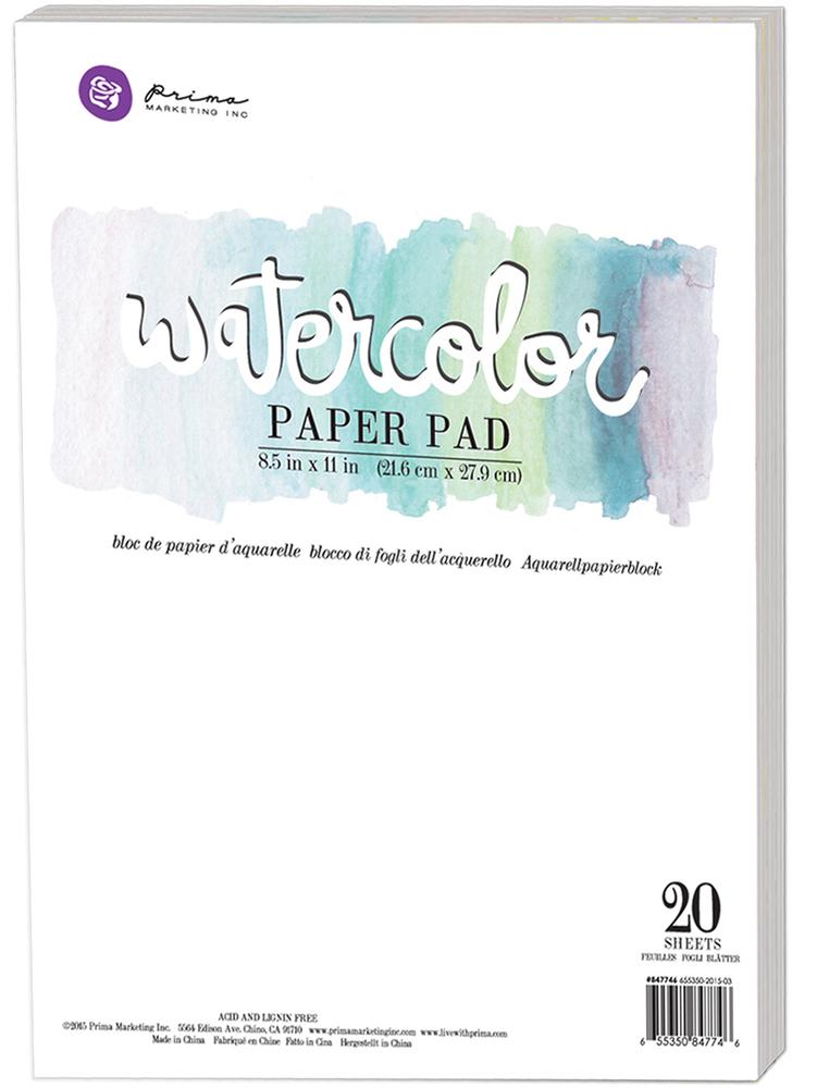 "Prima Marketing 8.5"" X 11"" Watercolor Paper Pad 300gsm"