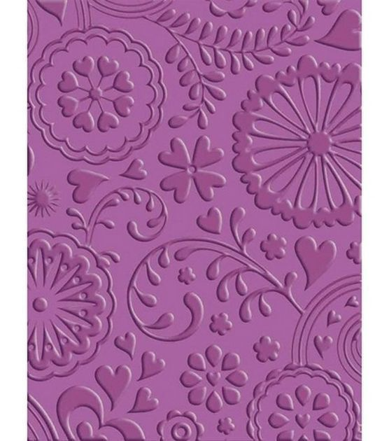 Cuttlebug FLORAL FANTASY Embossing Folder