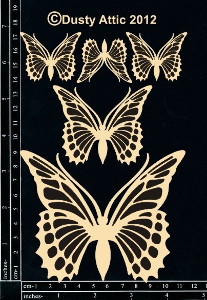 Dusty Attic MONARCH BUTTERFLIES Lasercut Designs