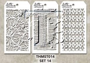 Tim Holtz MINI STENCIL SET 14
