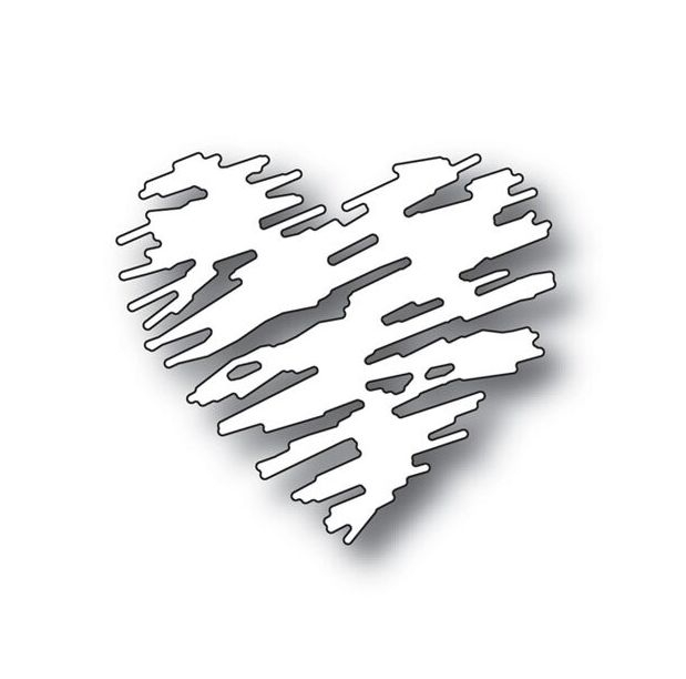 Simon Says Stamp SCRIBBLE HEART Wafer Dies