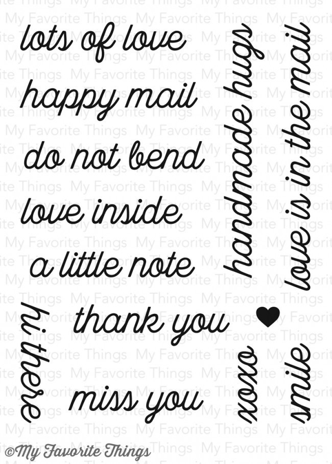 My Favorite Things LOVE IS IN THE MAIL Clear Stamp Set