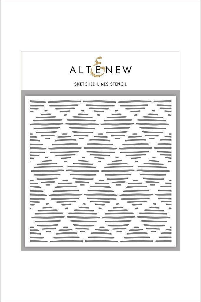 Altenew SKATCHED LINES Stencil