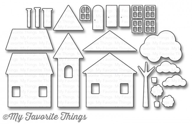 My Favorite Things HOME SWEET HOME Die-namics Die Set