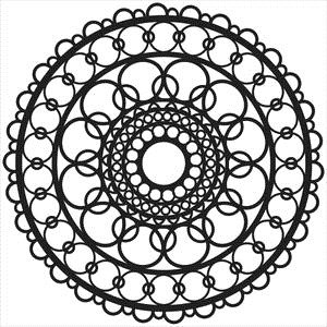 Crafter's Workshop RING DOILY Stencil