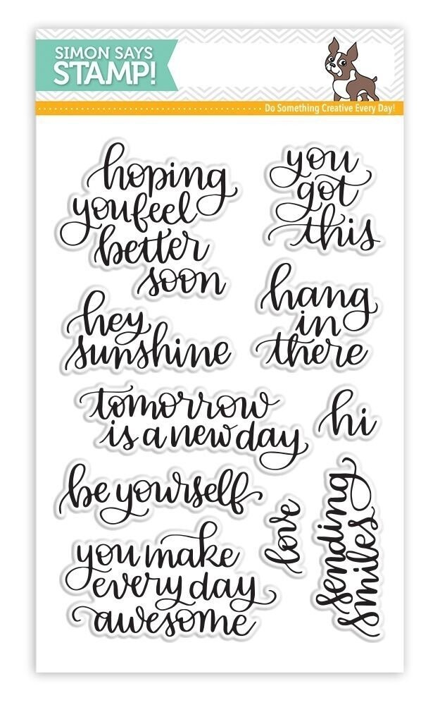 Simon Says Stamp HANDLETTERED ENCOURAGEMENT New Beginning Clear Stamp Set