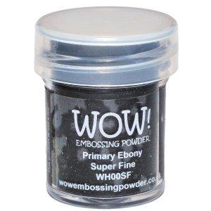 WOW! PRIMARY EBONY Superfine Embossing Powder