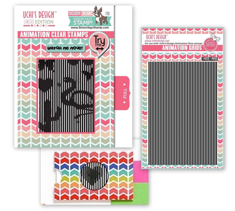 SSS Uchi's Design ANIMATION Clear Stamp Set Bundle