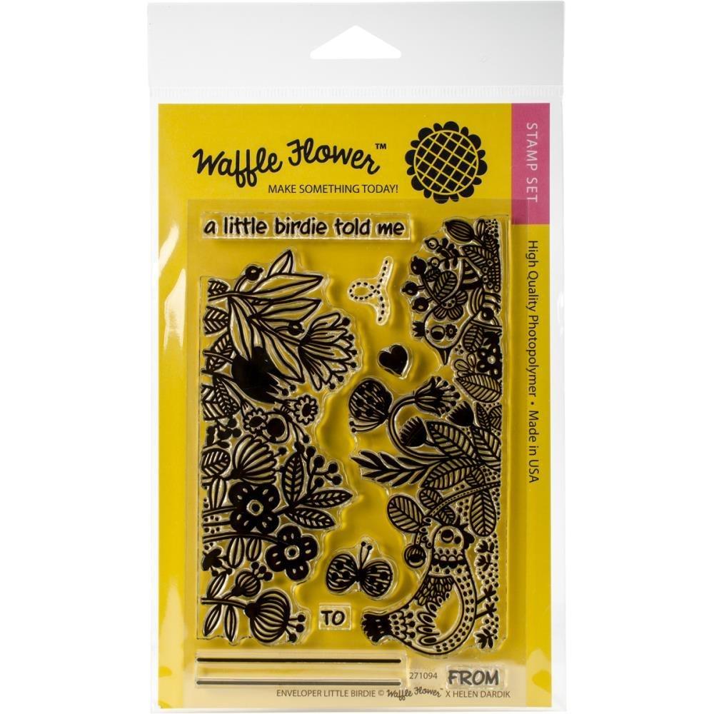 Waffle Flower ENVELOPER LITTLE BIRDIE Clear Stamp Set