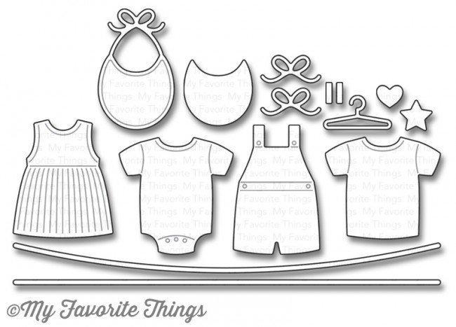 My Favorite Things BUNDLE OF BABY CLOTHES  Die-namics Die Set