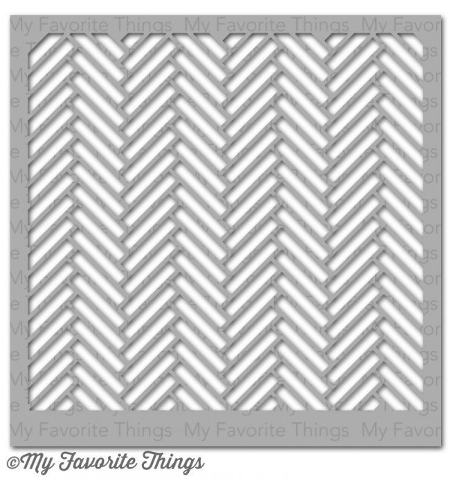 My Favorite Things HERRINGBONE BRICKS Stencil