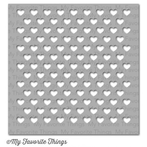 My Favorite Things STAGGERED HEARTS Stencil