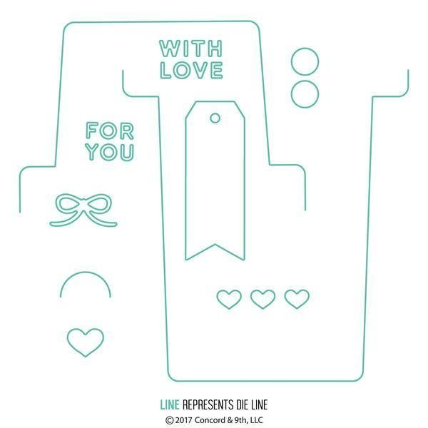 Concord & 9th LOVE NOTES ENVELOPE Die Set