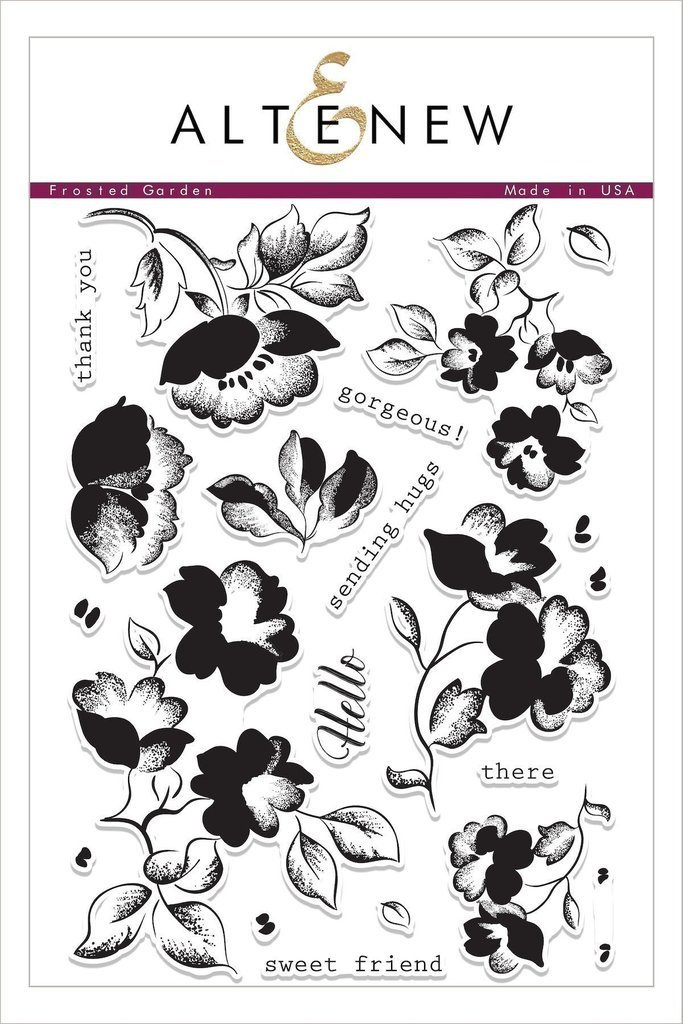 Altenew FROSTED GARDEN Clear Stamp Set
