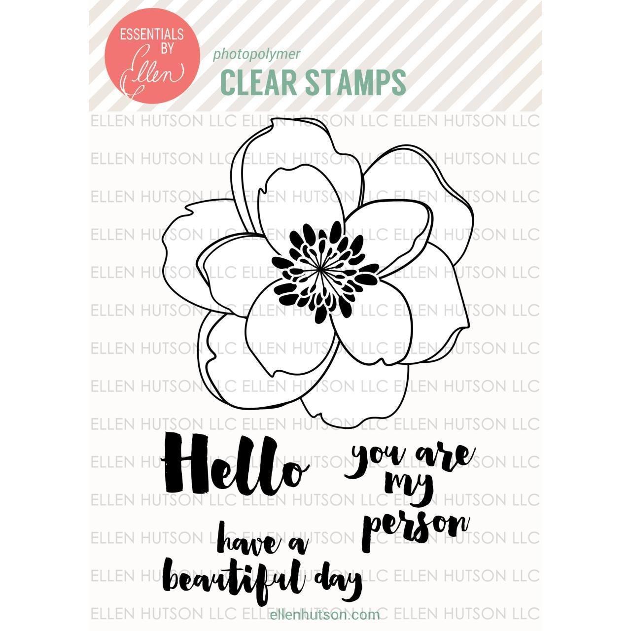 Essentials by Ellen MONDO MAGNOLIA Clear Stamp Set