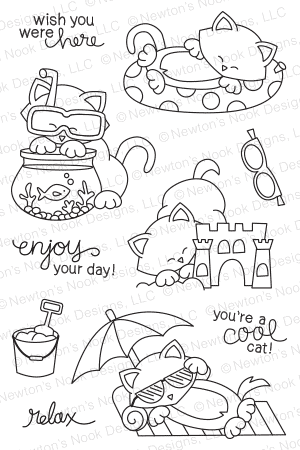Newton's Nook NEWTON'S SUMMER VACATION Clear Stamp Set