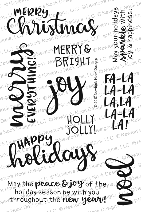 Newton's Nook SENTIMENTS OF THE SEASON Clear Stamp Set