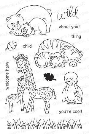 Newton's Nook WILD CHILD Clear Stamp Set