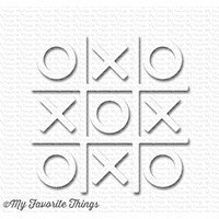 My Favorite Things TIC TAC TOE - WHITE Shapes Embellishments