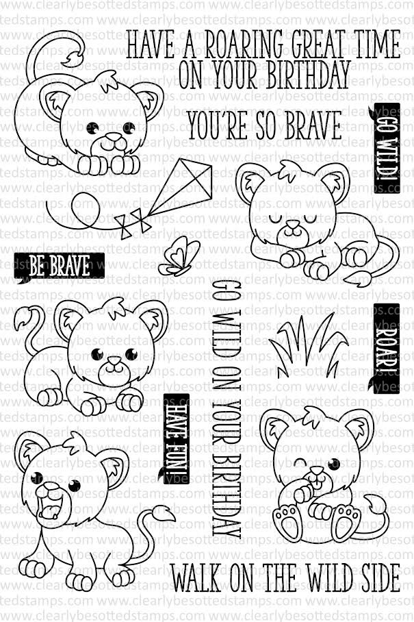 Clearly Besotted CUTE CUBS Clear Stamp Set