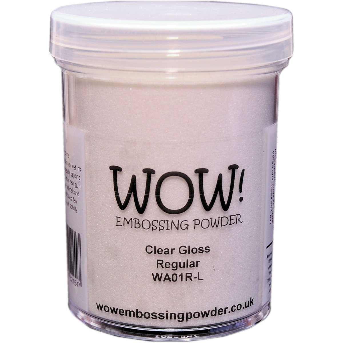 WOW! CLEAR GLOSS- Superfine Embossing Powder- Large jar