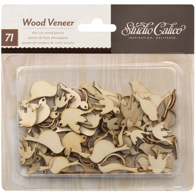 Studio Calico BIRDS Laser Cut Wood Veneer Shapes