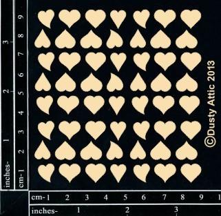 Dusty Attic MINI HEARTS #2 Lasercut Designs