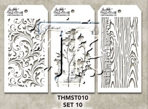 Tim Holtz MINI STENCIL Set 10