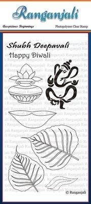 Ranganjali AUSPICIOUS BEGINNINGS Clear Stamp Set
