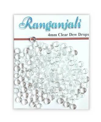 Ranganjali Small CLEAR DEW DROPS 100 (4mm)