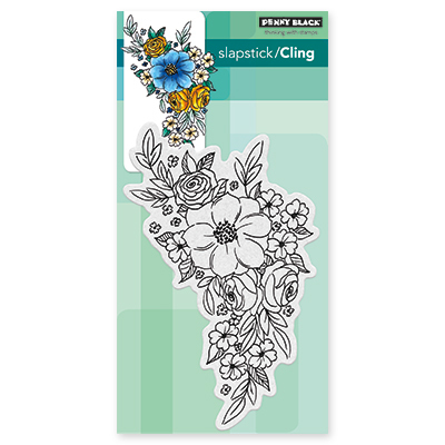 Penny Black FLOWER CASCADE Cling Stamp
