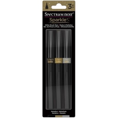 Crafter's Companion METALLICS Spectrum Noir  Sparkle Markers- 3/pk