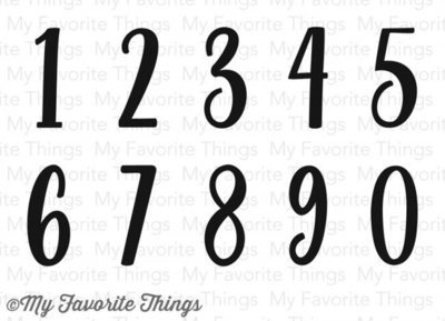 My Favorite Things WELL CONNECTED NUMBERS Clear Stamp