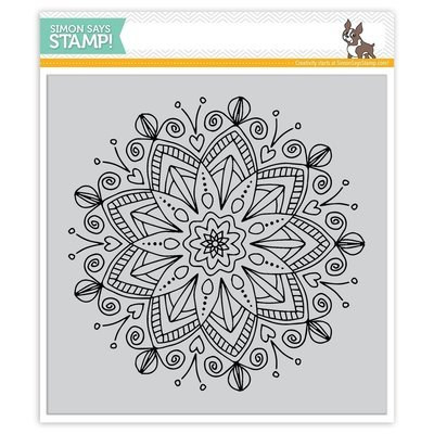Simon Says Stamp STAR FLOWER Cling Rubber Stamp