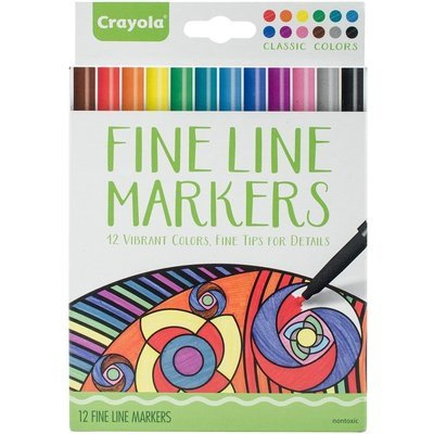 Crayola CLASSIC COLORS Fine Line Marker Set