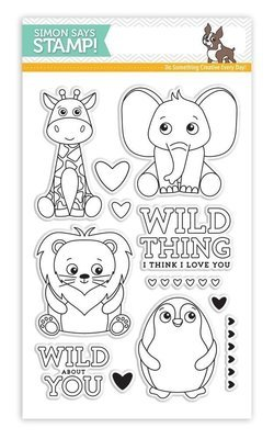 Simon Says Stamp WILD CUDDLY CRITTERS Clear Stamp Set