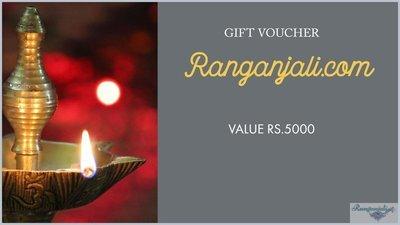 Ranganjali GIFT VOUCHER- Rs.5000