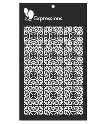 Expressions ORNATE PANEL Stencil