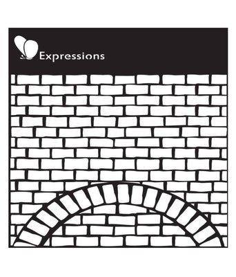 Expressions BRICK WALL Stencil