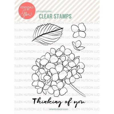 Essentials by Ellen MONDO HYDRANGEA Clear Stamp Set