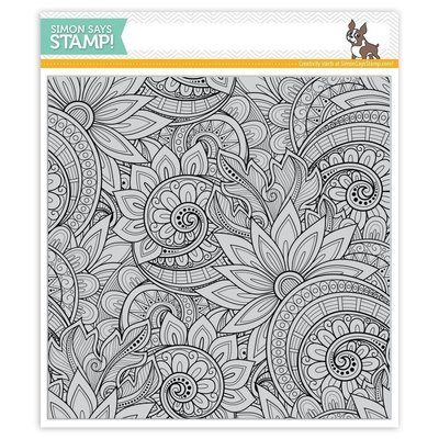 Simon Says Stamp ORNATE BACKGROUND Cling Stamp