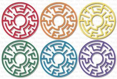 My Favorite Things RAINBOW Maze Shapes Embellishments