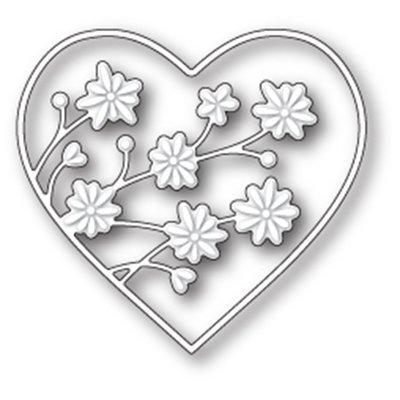 Memory Box DRIFTING FLOWERS HEART Die