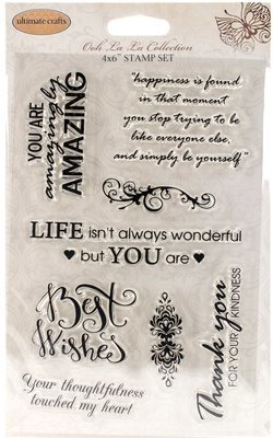Ultimate Crafts THOUGHTFUL WISHES Clear Stamp Set