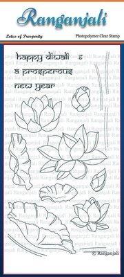 Ranganjali LOTUS OF PROSPERITY Clear Stamp Set