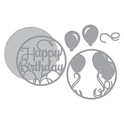 Spellbinders LAYERED HAPPY BIRTHDAY Die Set