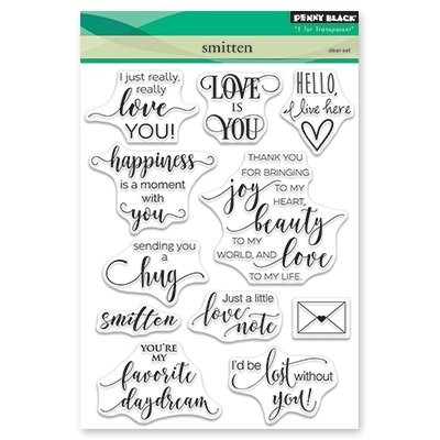 Penny Black SMITTEN Clear Stamp Set