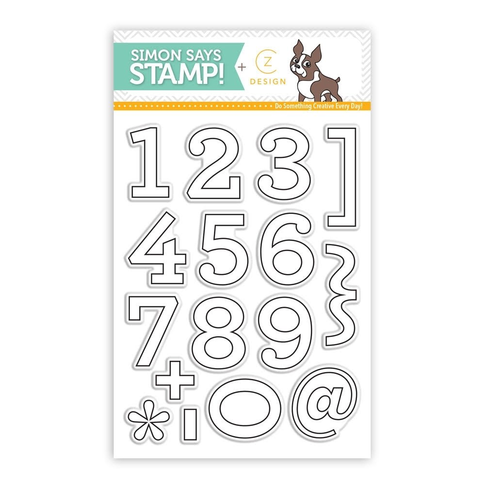 Simon Says Stamp ARCHIE NUMBERS CZ Design Clear Stamp Set